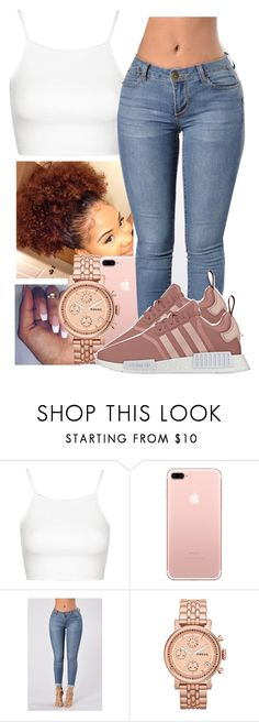 """""""Downtown Atlanta Vibes💅🏾🍑💦"""" by guwapshawty ❤ liked on Polyvore featuring Topshop and FOSSIL"""