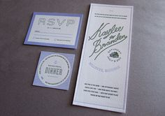 cute set of wedding stationery