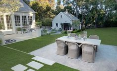 Lovely backyard setting via modern country style blog - gwenyth paltrows house