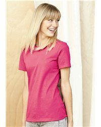 Spare just one minute to take a look at the Anvil - Sustainable Ladies' Short Sleeve T-Shirt - 458, you would never allow yourself to have it out of your sight again. Our Sustainable Ladies' Short Sleeve T-Shirt is made of 50% pre-shrunk and 50% combed ringspun transitional organic cotton. No one would ever say no to this soft and comfortable fabric and the delicate tailoring and sewing process. The shoulder-to-shoulder taping is the guarantee of a straight shape of the shirt.
