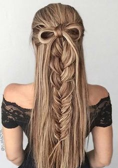 ? Pinterest_ ? Hairstyles Beauty ?Tumblr_ ? Simply-belen13 (braided half up brunette)