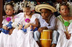 La Mejorana music festival, Panama Children wearing Pollera national dress at La Mejorana music festival.  Alfredo Maiquez, Lonely Planet Photographer, © Copyright Lonely Planet Images 2011