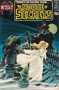 House of Secrets 88 - Neal Adams cover art Vintage Comic Books, Vintage Comics, Comic Books Art, Comic Art, Book Art, Sci Fi Comics, Horror Comics, Horror Art, Horror Books