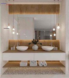 Łazienka duza - Lilly is Love Bathroom Design Luxury, Modern Bathroom Design, Bathroom Design Inspiration, Beautiful Bathrooms, Interior Design Living Room, Bedroom Nook, Bedroom Ideas, Full Mirror, Toilets