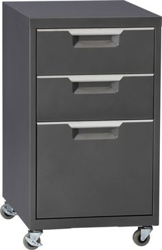 TPS carbon file cabinet in office furniture | CB2  $159.00