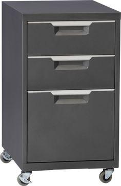 TPS carbon file cabinet  | CB2