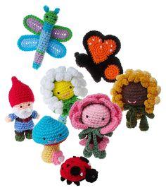 Crochet Amigurumi In the Garden pattern pdf by gourmetcrochet, $7.99