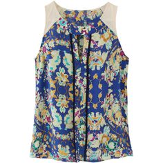 Collective Concepts Lydia Floral Print Key-Hole Blouse #stitchfix