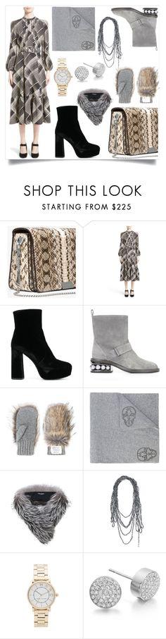 """Silver fashion"" by gloriaruth-807 ❤ liked on Polyvore featuring CO, Prada, Nicholas Kirkwood, STELLA McCARTNEY, Thomas Wylde, Dolce&Gabbana, Maria Calderara, Marc Jacobs and Monica Vinader"