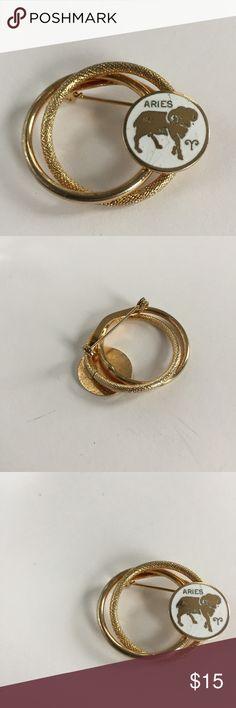 """Vintage Goldtone Aries Pin Vintage Aries goldtone pin  About 1"""" Vintage Accessories"""