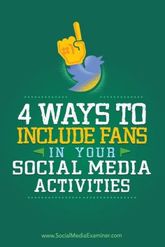 Do you want to build a stronger community?  Your fans and customers can play an important part in developing a social media presence that shares authentic stories.  In this article, you'll discover four creative ways to include fans in your social media marketing. Via @smexaminer.