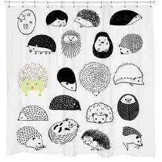 20 Hedgehogs Shower Curtain | Sharp Shirter
