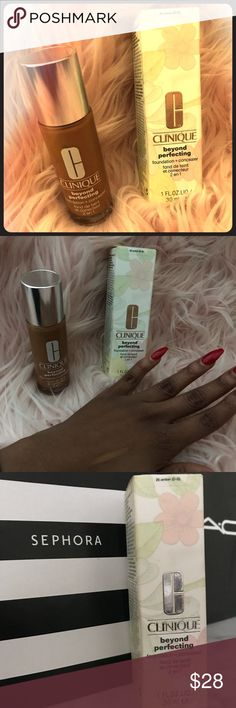 Clinique: Beyond Perfecting Foundation and Conceal Loved this product but the color is too warm for my skin. The color is amber. Clinique Makeup Foundation