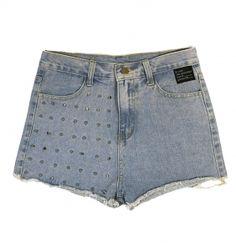 B-side Womens Ashana Stud Denim Shorts  £60.00