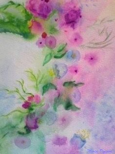 Flores En El Espejo. Acuarela