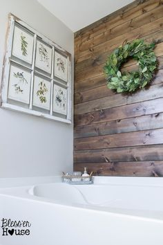 Bathroom Budget Makeover | Builder Grade to Rustic Industrial for $375 | Bless'er House - LOTS of great DIYs packed into one bathroom makeover
