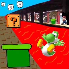 A trip down memory lane with Yoshi from Mario!