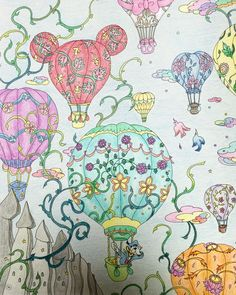 #旅するディズニー塗り絵 #コロリアージュ #大人の塗り絵