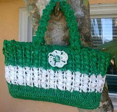 love this crochet rafia bag my original design