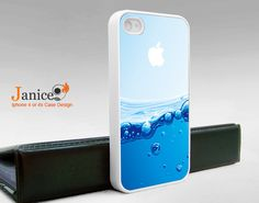 iphone 4 case iphone 4s case iphone 4 cover  beautiful blue water unique Iphone case. $13.99, via Etsy.
