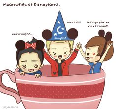Some of you were wondering what the other boys were doing at Disneyland~The teacup ride is a must!! hahabut not all of us can enjoy it x)  xoxo mia