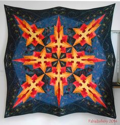 'Shooting Stars' Birgit Schüller, 2009.  Photo by Fabadashery: International Quilt Festival Luxembourg 2014