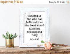 SALE Promises of the Lord Christian Printable by HearMeRoarQuotes