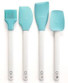 Martha Stewart Collection Set of 4 Blue Kitchen Utensils in white? #Macy's