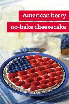 American Berry No-Bake Cheesecake – Need a surefire winner for the patriotic holidays? Here it is: our five-star American Berry No-Bake Cheesecake. (Hundreds of reviewers can't be wrong!) This is a 4th of July dessert recipe winner!