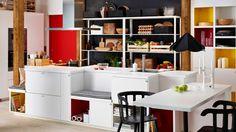 Îlot cuisine Ikea avec des bancs http://www.deco.fr/diaporama/photo-cuisine-ilot-ikea-selection-inspiration-deco-76581/