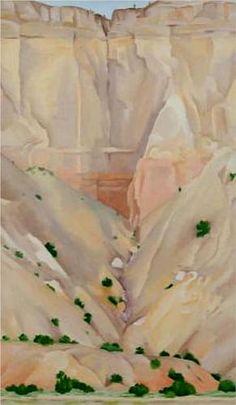 GEORGIA O'KEEFFE  Cliffs Beyond Abiquiu, Dry Waterfall (1943)