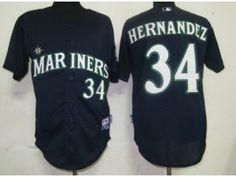 MLB 2011 New Seattle Mariners  34 Felix Hernandez Blue Jersey Felix  Hernandez e715965c6