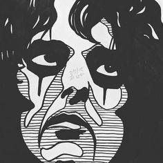 Daily Sketch 3/5/18 #1250 Alice Cooper #dailysketch #illustration #people #portrait #musician #rocker #alicecooper