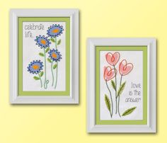 crafts n things flower of the month cross stitch series | Stitch a Sentiment in Half Cross Stitch