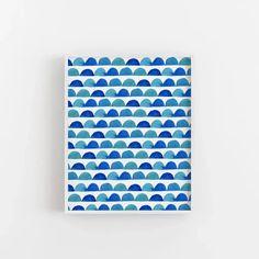 Blue Abstract Half Circle Modern Beach Wall Art Print or Canvas – Jetty Home