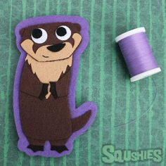 Bastain the River Otter - Felt Patch  A super cute felt otter is a fun way to add a personalized touch to any piece of clothing. Our felt appliques are ready to be sewn or ironed on to any iron safe cloth surface. For best results we recommend doing both.  #otter #riverotter #feltanimal #feltapplique #irononpatch #Sewonpatch #otterlove #otterlyadorable