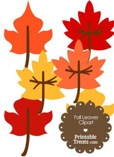 Fall Leaves Clipart from PrintableTreats.com