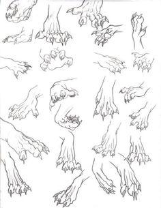 Werewolf hands paws