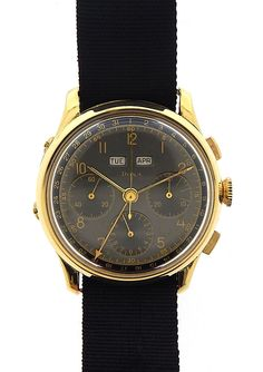 Vintage Doxa Chronograph Watch 18K | eBay