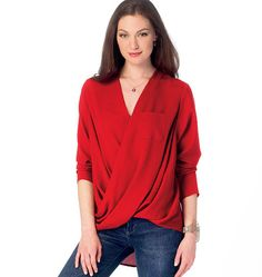 Misses' Draped Tops, M6991 http://mccallpattern.mccall.com/m6991-products-48707.php?page_id=96 #mccallspatterns