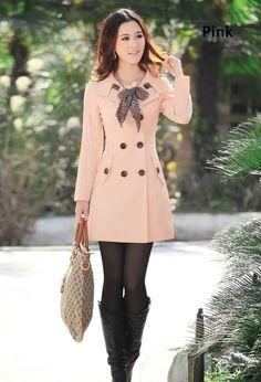 Womens Long Sleeve Trench Coat  i need this coat like i need air