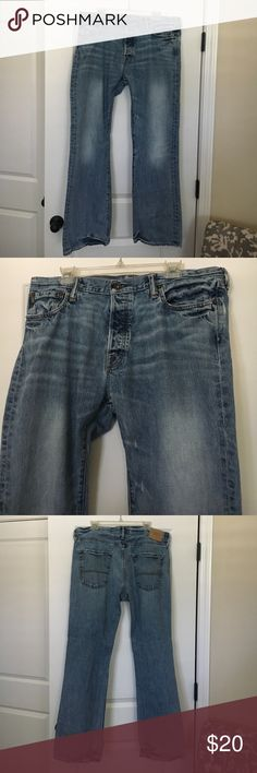 Men's Abercrombie & Fitch Jeans, 36 Wide, 32 Long Men's Abercrombie & Fitch Jeans, BAXTER Low Rise Slim Boot, Size 36 Wide, 32 Long. There are no stains or rips and item is in excellent condition. All offers are welcomed. Abercrombie & Fitch Jeans