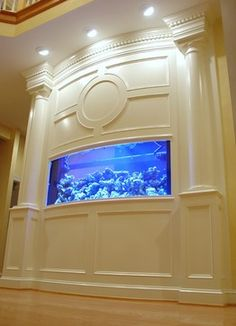 Baltimore Built-in Aquarium, Fireplace, and Theater - traditional - Spaces - Baltimore - Lazzell Design Works