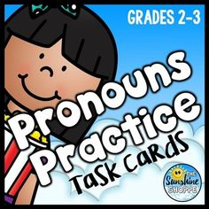 Pronouns Task Cards for Second and Third Graders***BARGAIN Bundle Broadcast***This product is also part of the Pronouns Task Cards Bundle. Do not purchase this product if you've already purchased the Pronouns Task Cards Bundle, or you'll receive duplicates.Popcorn  ThemedYour purchase includes...-24 task cards with optional QR codes for instant self-checking-answer key-student recording sheetThis product supports the following Common Core Standards:CCSS.ELA-Literacy.L.3.1Demonstrate command ... English Pronouns, Ccss Ela, Common Core Standards, Qr Codes, Task Cards, Popcorn, Literacy, Third, Self