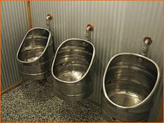 urinal keg-shaped