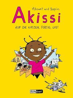 Akissi hat es nicht leicht: Die Katzen aus der Nachbarschaft verfolgen sie, um ihr den Fisch abzujagen, ihr Äffchen Boubou landet beinahe im Kochtopf und Fofana, ihr Bruder, zeigt ihr bei jeder Gelegenheit, dass sie ihm lästiger ist als ein Furunkel am Allerwertesten.   Na und? Auf herrlich anarchistische Art und Weise erkundet die kleine Energiebombe ihre Umgebung in der ivorischen Stadt Abidjan - eine bunte, quirlige Welt, in der auch die sozialen Probleme nicht verheimlicht werden. Rosa Parks, Family Guy, Guys, Comics, Books, Fictional Characters, Products, Cartoon Kids, Treasures Reading