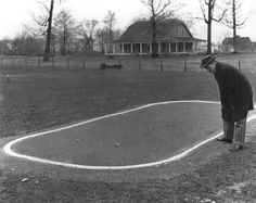 Racing Driver Lewis Strang Examines The Layout for the New Indianapolis Motor Speedway 1909