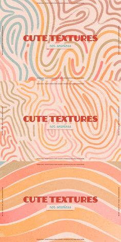 Retro Colored Textures, Rainbow, Land Scape, Nature, Waves, Topographic lines, Watercolor Digital Textures, PNG CLIPART