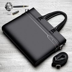 Whether leisure or business, this high quality handsome leather handbag / shoulderbag is a taste of class. The genuine cow leather is soft and extremely durable. Lots of space for your daily needs. Item Type: Handbags & Crossbody bags Main Material: Genuine LeatherLining Material: PolyesterOccasion: BusinessInterio