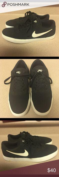 e00df951152249 Nike SB Check Men s 9 Casual Shoes Black White PreOwned Nike SB Check Mens  Casual